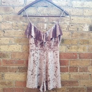 NWT Urban Outfitters Crushed Velvet Romper